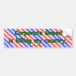 CorpGreed Car Bumper Sticker