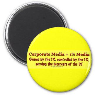 CorpMedia1PctMedia 2 Inch Round Magnet