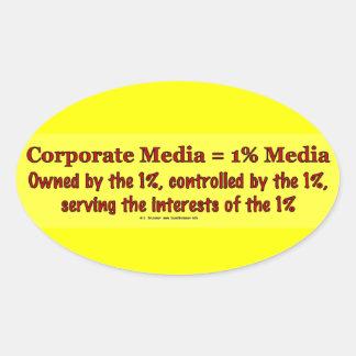 CorpMedia1PctMedia Oval Sticker