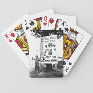 Corporal Charles H. Johnson of the 783rd_War image Playing Cards