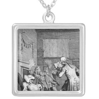 Corporal Trim reading a sermon Silver Plated Necklace