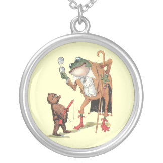 Corporal Waddle Captures the Frogman Round Pendant Necklace