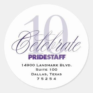 Corporate Address Labels Classic Round Sticker