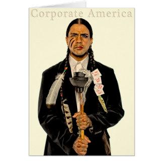 Corporate America Greeting Card