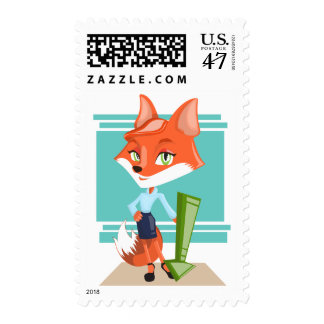 Corporate Animal Red Business Fox Success Stamp