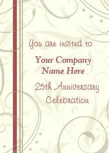 Corporate Anniversary Invitations Zazzle