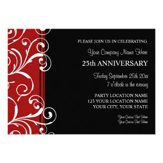 Corporate Anniversary Party Invitations