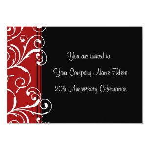 Corporate anniversary invitations zazzle corporate anniversary party invitations stopboris Images