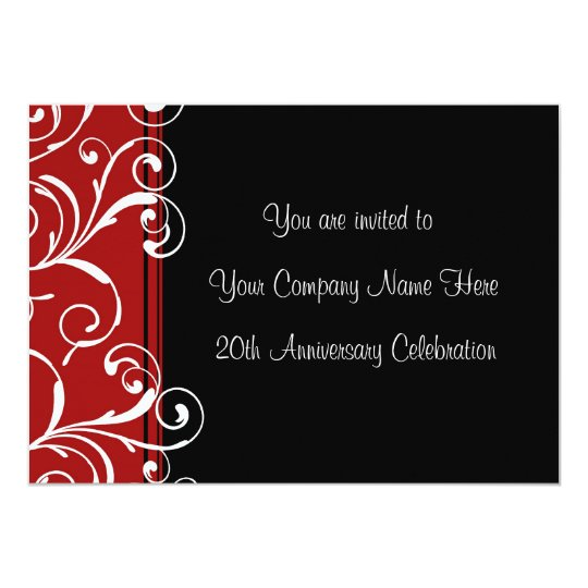 Corporate anniversary party invitations zazzle corporate anniversary party invitations stopboris Images