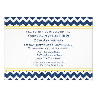 Corporate Anniversary Party Invitations Blue