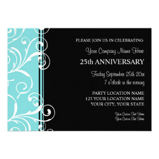 Corporate Anniversary Party Invitations Teal