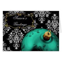 Corporate aqua Christmas Cards