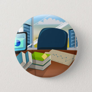 Corporate Bankers Office Pinback Button