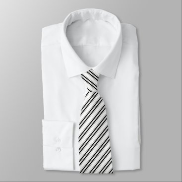Professional Business Corporate Black Striped Pattern Tie
