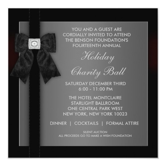 Corporate Black Tie Event Formal Template Zazzle Com