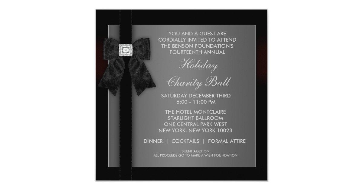Corporate Black Tie Event Formal Template | Zazzle.com