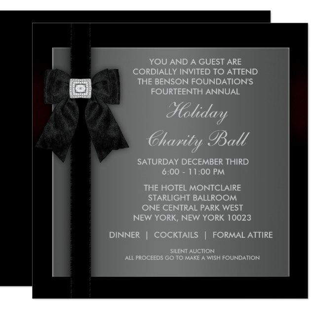 Corporate Black Tie Event Formal Template Card | Zazzle