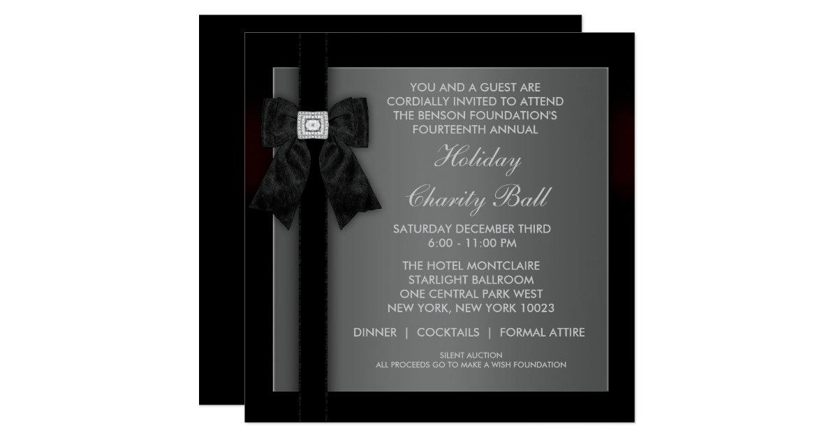 corporate black tie event formal template card zazzle. Black Bedroom Furniture Sets. Home Design Ideas