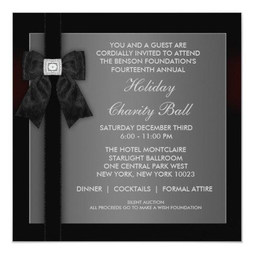 corporate black tie event formal template invitation