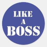 Corporate Boss Classic Round Sticker