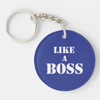 Corporate Boss Double-Sided Round Acrylic Keychain