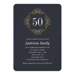 Corporate Business 50th Anniversary Invitation