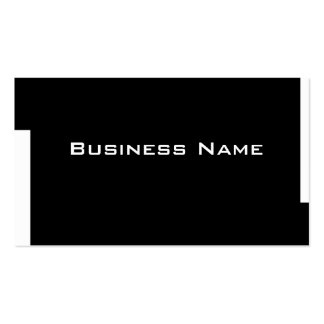 corporate business card black and white