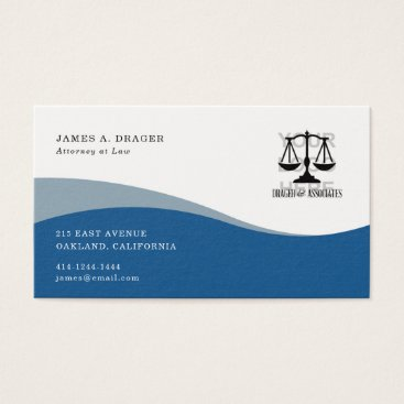 Professional Business Corporate Business Card : Blue Wave
