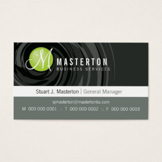 CORPORATE BUSINESS CARD :: cyclone monogram 1