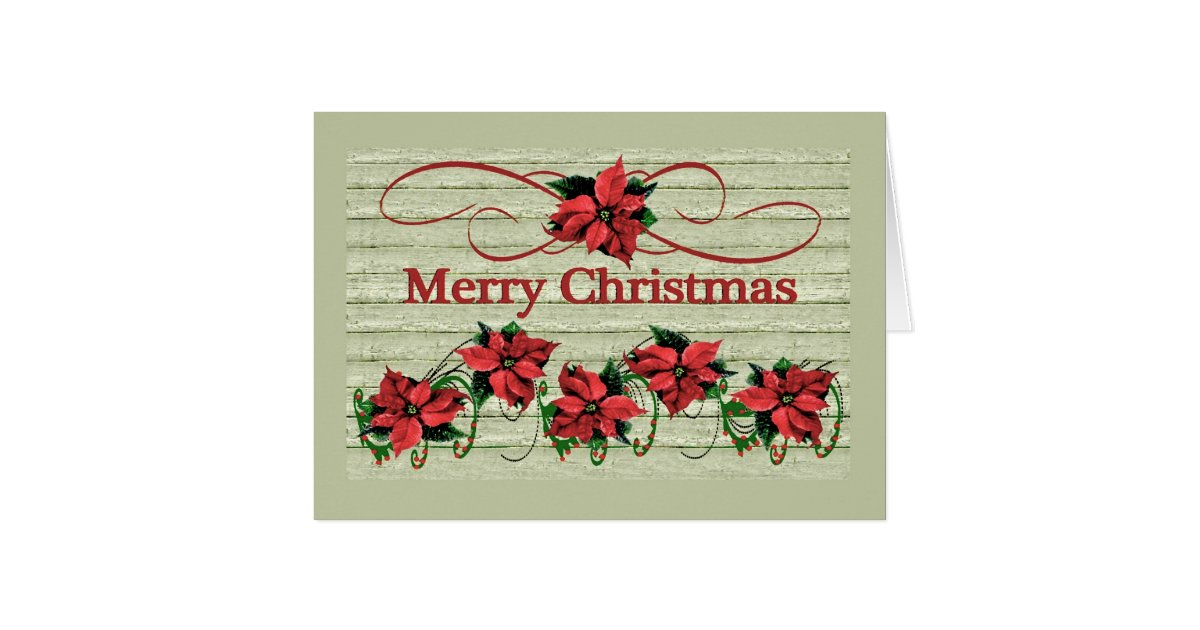 Corporate business merry christmas pointsettias greeting for E christmas cards for business