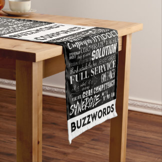 Corporate Buzzwords Business Jargon Typography Art Short Table Runner