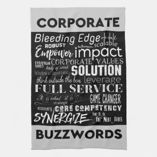 Corporate Buzzwords Business Jargon Typography Art Towel