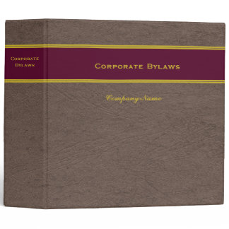 Corporate Bylaws with Custom Name binder