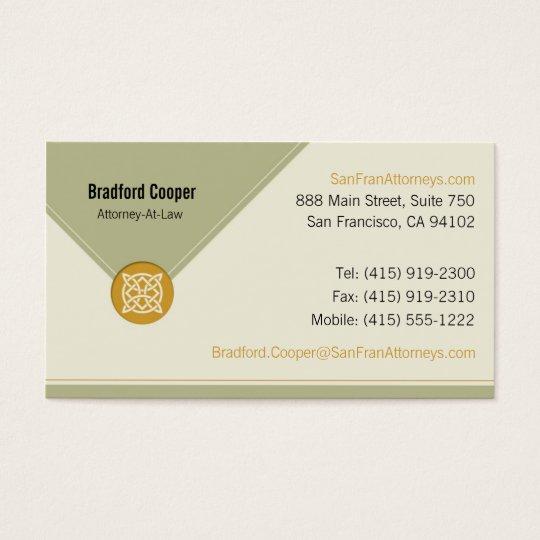 Corporate Celtic Knot Business Card