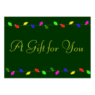 Corporate Christmas Gift Certificate Large Business Card