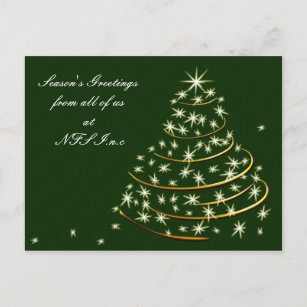 Business holiday cards zazzle corporate christmas greeting postcards m4hsunfo