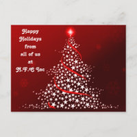 Greeting christmas postcards zazzle corporate christmas greeting postcards m4hsunfo
