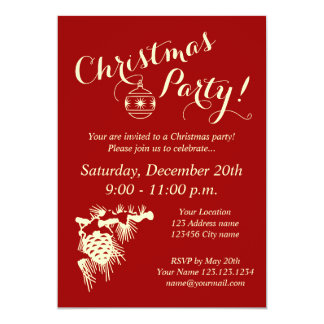 corporate christmas party invitations for company - Corporate Holiday Party Invitations