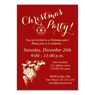 corporate christmas party invitations  announcements  zazzle, invitation samples