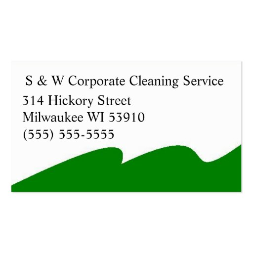 Corporate cleaning service business cards