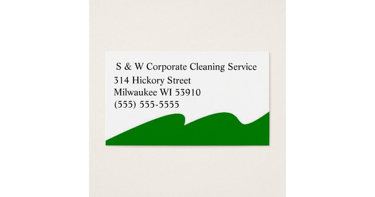 Corporate cleaning service business cards | Zazzle.com