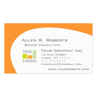 Corporate Colors -Choose Color, Add Business Logo Double-Sided Standard Business Cards (Pack Of 100)