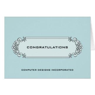 Corporate Congratulations Calligraphic Label Card