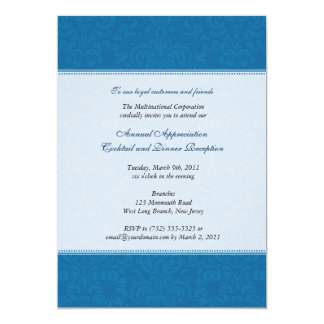 Corporate Damask Cobalt Card