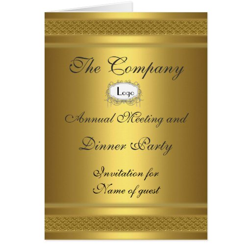 Corporate Dinner Party Add your logo Cards