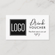 Corporate Drink Voucher | Company Logo Promo Business Card