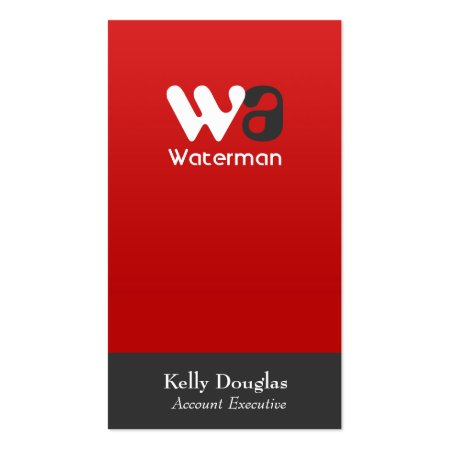 Professional Accountant Business Cards Red and Gray Corporate Elegance Profilecards