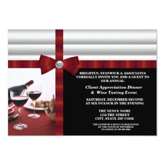 """Corporate Event Client Appreciation 5"""" X 7"""" Invitation Card"""