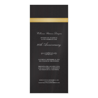 """Corporate Event Ribbon Invitation (gold) 4"""" X 9.25"""" Invitation Card"""