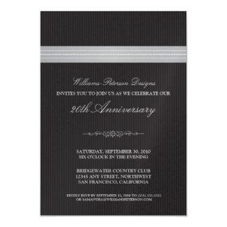 Corporate Event Ribbon Invitation (silver)